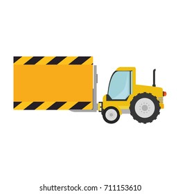 forklift vehicle with board construction