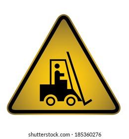 Forklift Warning Sign- Vector