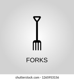 Forks icon. Forks concept symbol design. Stock - Vector illustration can be used for web