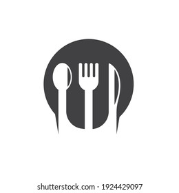 fork,spoon and knife  icon vector illustration template