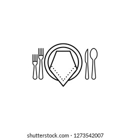 formal  dinner icon. Can be used for web, logo, mobile app, UI, UX