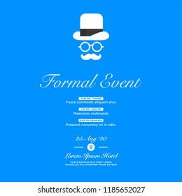event invitation template agenda venue date のベクター画像素材
