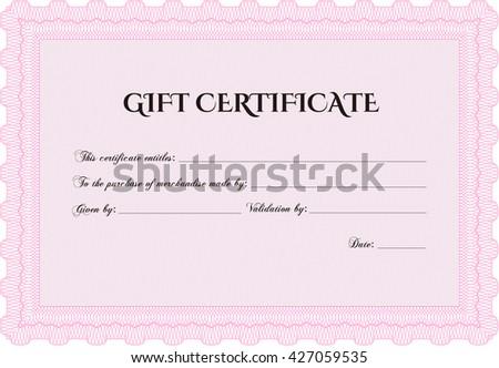 formal gift certificate border frame superior stock vector royalty