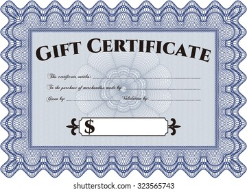 vector gift certificate template border frame with stock vector