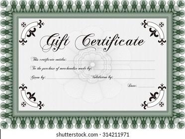 formal gift certificate border frame quality stock vector royalty