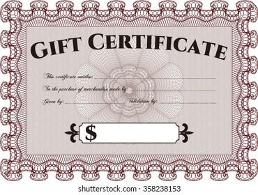vector illustration formal gift certificate border stock vector