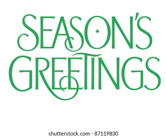 Formal Holiday Vector Lettering Series: Season's Greetings