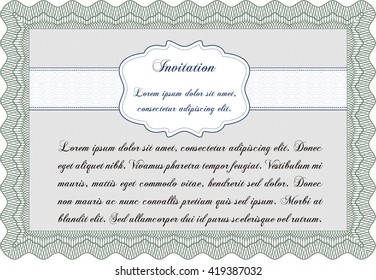 Formal invitation. With complex background. Customizable, Easy to edit and change colors. Excellent design.