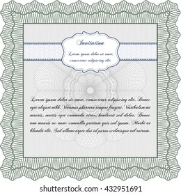 Formal invitation. Good design. With complex background. Customizable, Easy to edit and change colors.