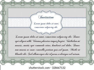 Formal invitation. Good design. Customizable, Easy to edit and change colors.With linear background.