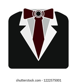 formal official suit icon. male user - formal vector businessman sign - human illustration