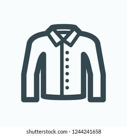 Formal shirt icon, men's solid shirt vector icon