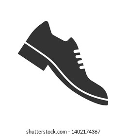 Formal Shoes Icon. Man Footwear Illustration As A Simple Vector, Trendy Sign & Symbol for Design and Websites, Presentation or Application.