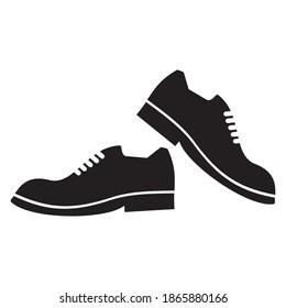Formal Shoes Icon. Man Footwear Illustration design