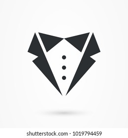 Formal suit logo icon, men fashion symbol.