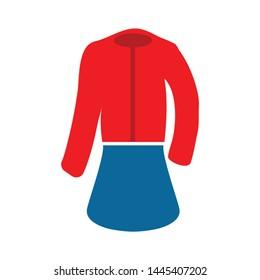 formal women wear icon. Logo element illustration.   formal women wear symbol design. colored collection.   formal women wear concept. Can be used in web and mobile