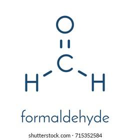 Formaldehyde (methanal) molecule. Important indoor pollutant. Skeletal formula.