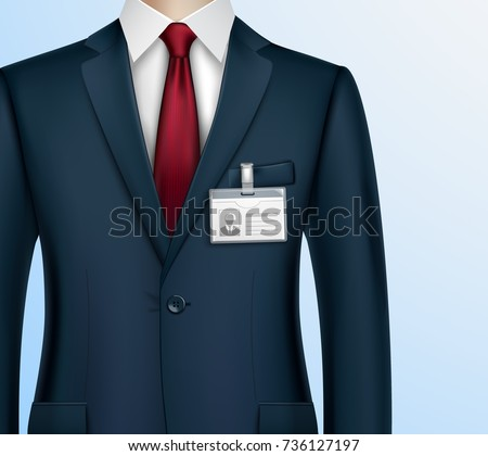 Formally Dressed Classic Suit Businessman Id Stock Vector Royalty