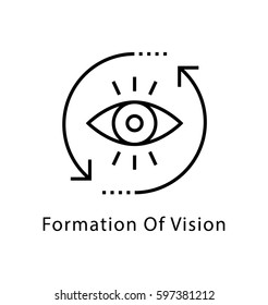 Formation of Vision Vector Line Icon
