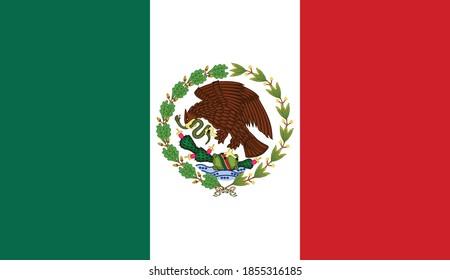 Ancien drapeau vectoriel mexicain historique entre 1934 et 1968