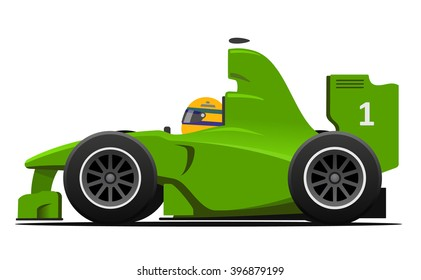 Formula 1 Race Car Vector Illustration