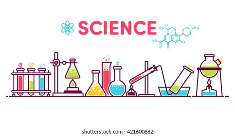 formula, flask, experiment, retort, test tube, chemistry