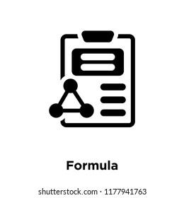 Formula icon vector isolated on white background, logo concept of Formula sign on transparent background, filled black symbol