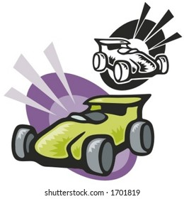 Formula one. Vector Illustration
