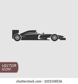 Formula racing car vector icon.