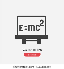 Formule icon vector. Formule symbol. Linear style sign for mobile concept and web design. Formule symbol illustration. Pixel vector graphics - Vector.