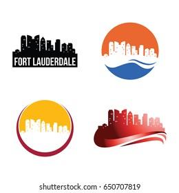 Fort Lauderdale City Landscape Logo Template