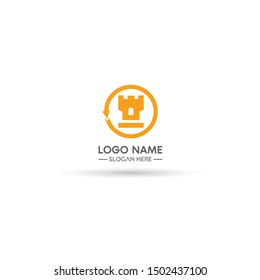 fort logo, can be used as a website logo and company logo