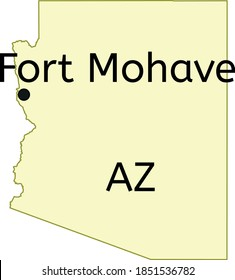 Fort Mohave census-designated place location on Arizona map