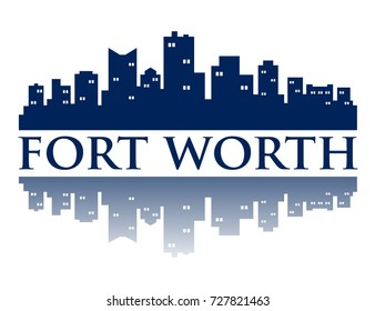 Fort Worth City Skyline Logo Template