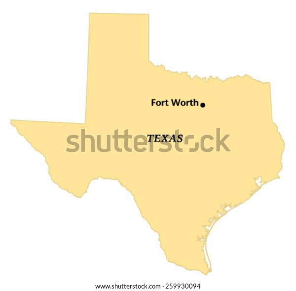 Map Of Texas Fort Worth.Fort Worth Texas Locate Map Stock Vector Royalty Free 259930094