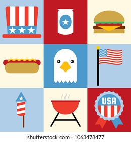 Forth of July design Icons