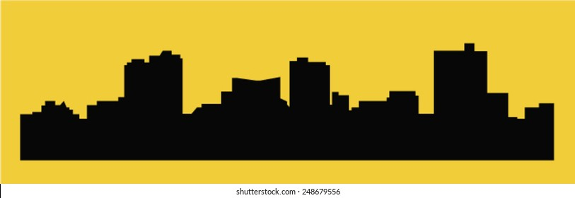 Forth Worth, Texas (city silhouette)