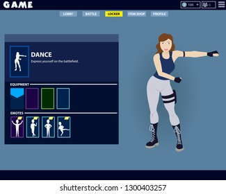 Fortnite Game woman character making a famous floss dance in game