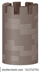 Fortress tower vector icon