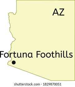 Fortuna Foothills census-designated place location on Arizona map