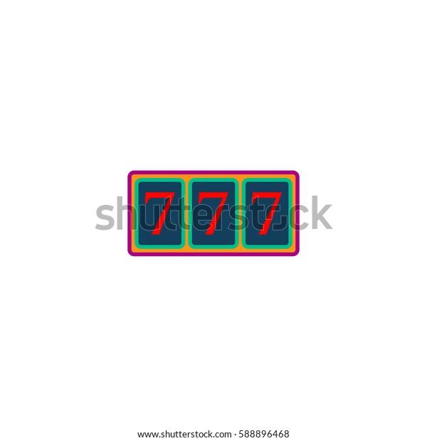 Fortune 777. Color symbol icon on white background. Vector illustration