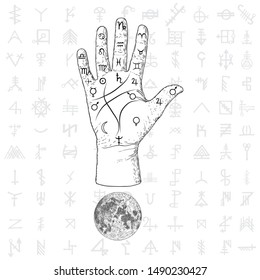 Palm Reading Vector Images, Stock Photos & Vectors