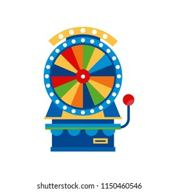 Fortune wheel , arcade game vending machin vector Illustration on a white background