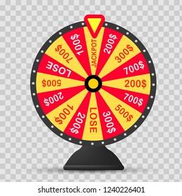Fortune wheel vector background. Lucky roulette vector illustration EPS10