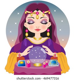 fortune teller crystal ball images stock photos vectors