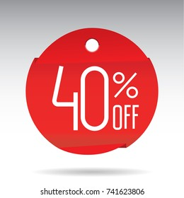 forty percent off sticker rumbled, sale 40% discount