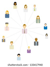 Forum Moderator / Social and business network or People icon