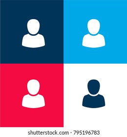 Forum user four color material and minimal icon logo set in red and blue