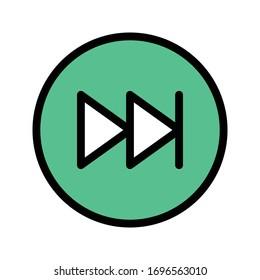 forward vector flat color icon