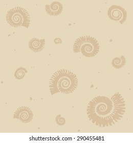 Fossils seamless background pattern